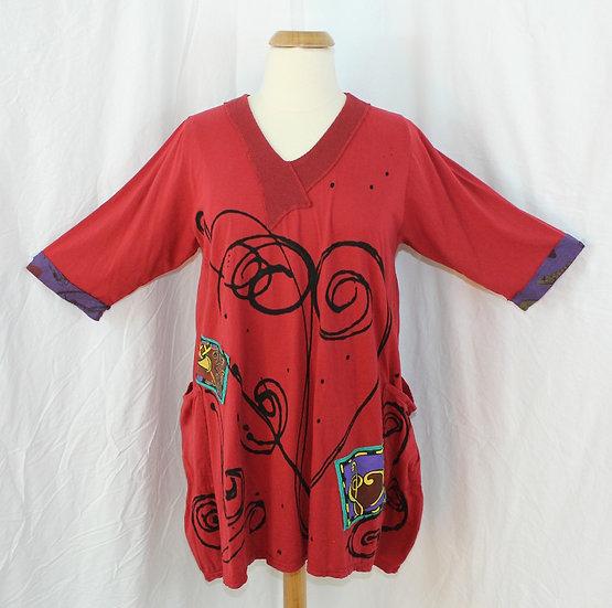 Bop Around Dress/Tunic-Medium