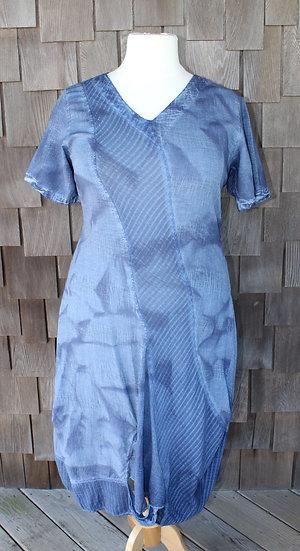 Mixed Fabric/Dye Dress (#06-1616)