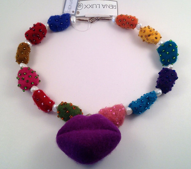 Rena Luxx Felted Necklace and Earring Set