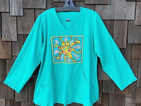 CEC071SB - Painted Pocket Pullover - Sun