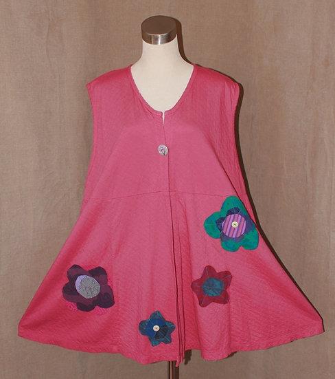 Flower Power Vest in Rose