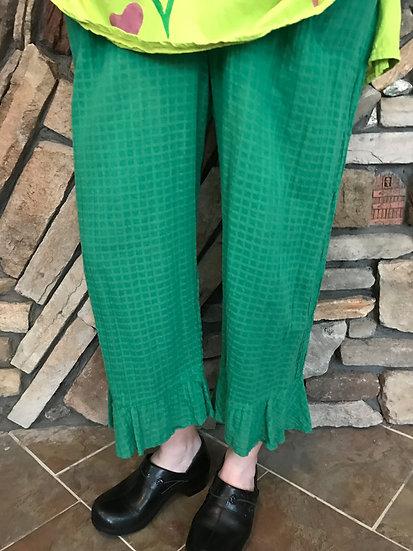Roman Holiday Ruffle Pant - Size 2 - Jade (#31)