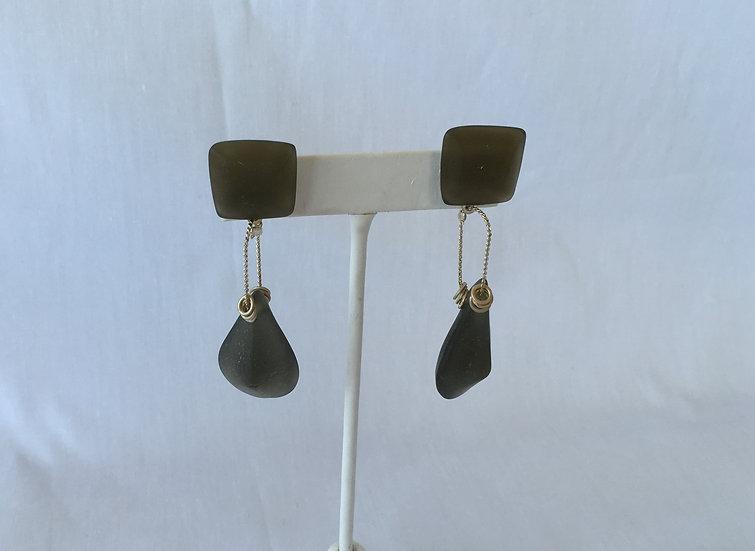 Frosted Black Earrings - E3464-5