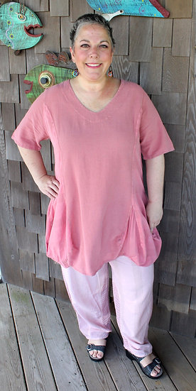 Rose Bubble Hem Tunic (07-2816)
