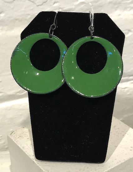 MFD - Green Hoop de Loop Earrings