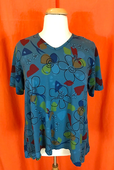 Mad Flower Tee Tunic - Sz M  (#52)