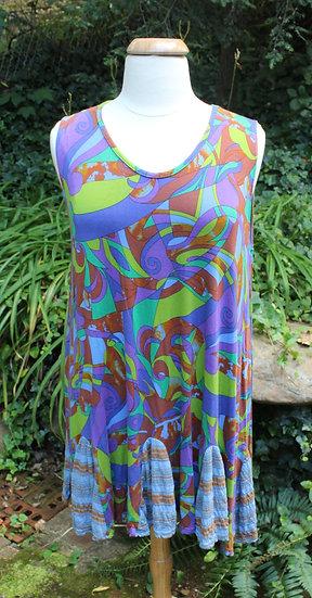 Flippy  Dress- Very-Winkle Swirley Modal