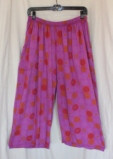 Polka Dot Coastal Capris - Poppin' Purple