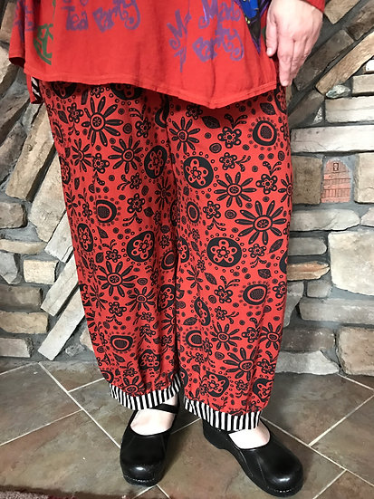 Alice  Party Pant - Sz 3 - Duchess Red