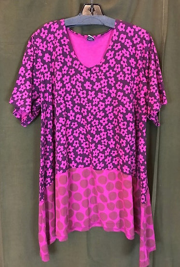 39 - Suntime Tunic-y - Pink Flowers