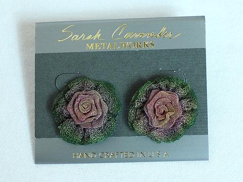 Doily w/ Rose Earrings