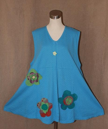 Flower Power Vest in Bluebell