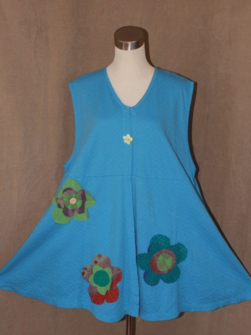 Flower Power Vest in Bluebell