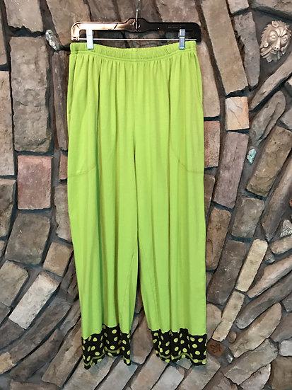 Tweedle Dum Dot Cuff Pant - Sz 1 - Lime