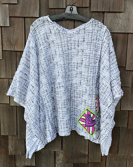 CEC102RS - Positively Pretty Poncho - One Size