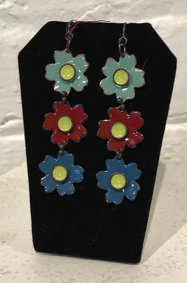 MFV-3 Flower Drop Earring