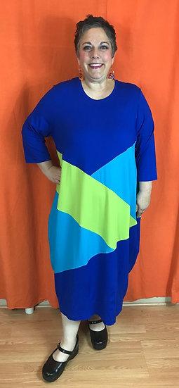 Tamara Dress - Blue/Green Mix