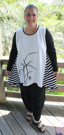 Black Sleeve/Stripey Side Tunic (CH)