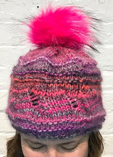 Pinky Pom Hat