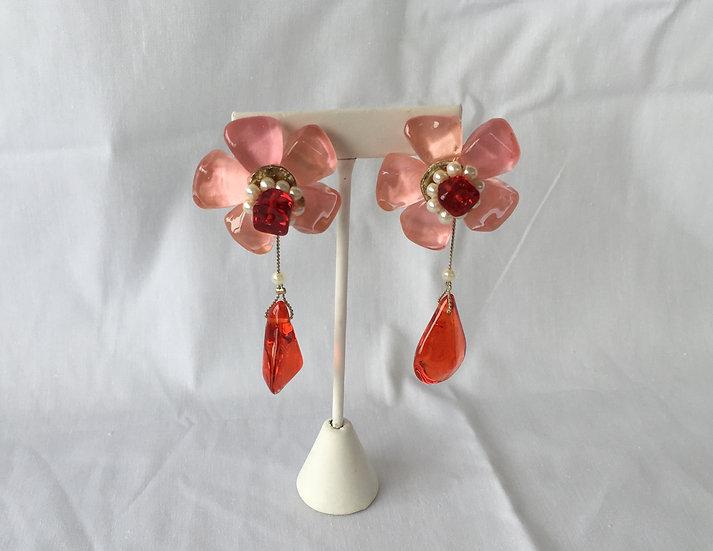 Pink Petal Earrings - E3469/3