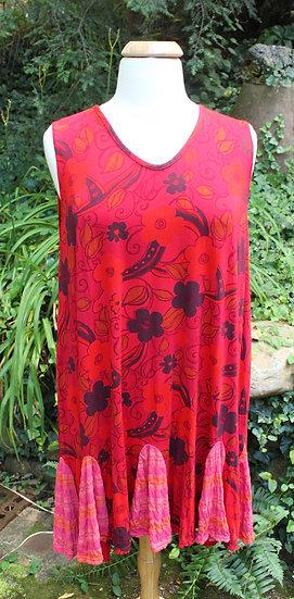 Flippy Dress- Rock-It Red  Floral Modal