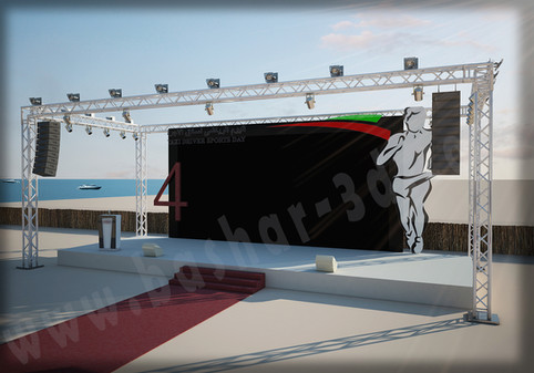 Event stage truss booth design