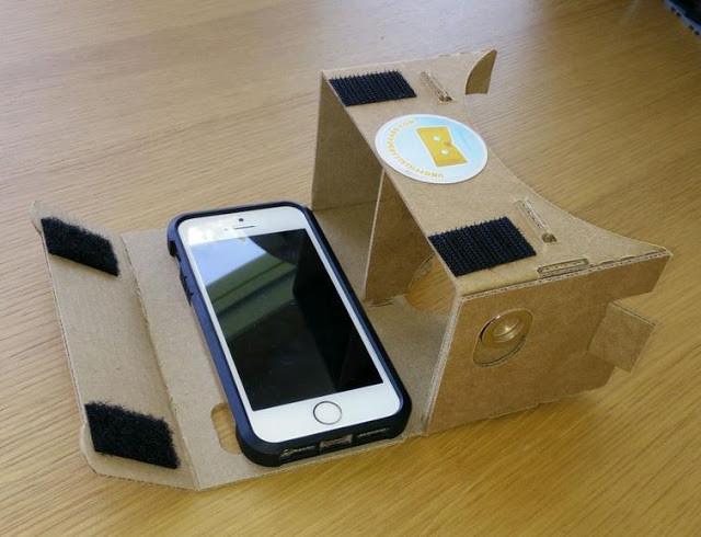 نظارات غووغل الكرتونية Cardboard أخيرا متوافقة مع الآيفون