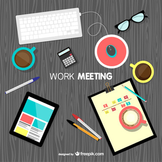 Work-meeting-background-vector