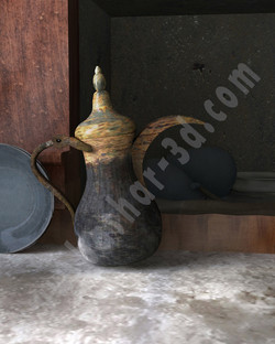 3D Art Coffee Dallah