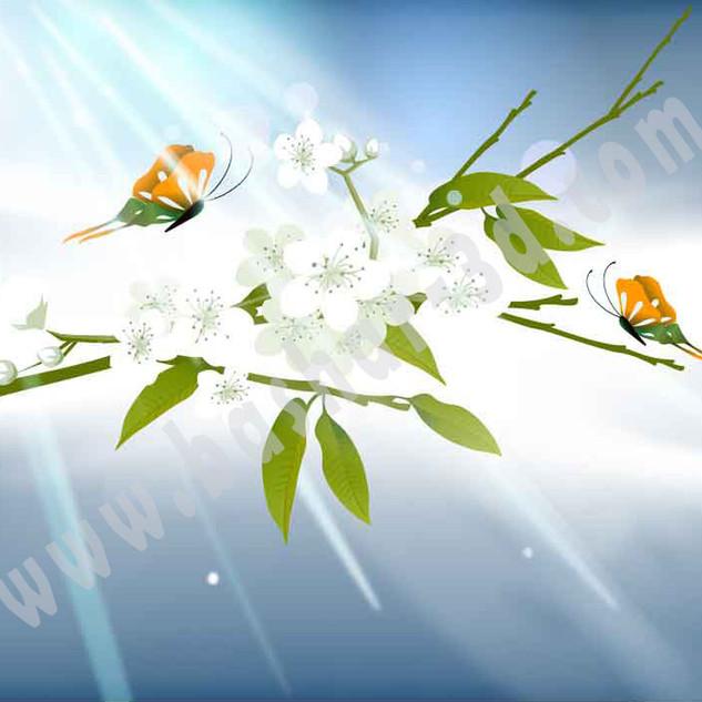 Flowers illustrator file free download