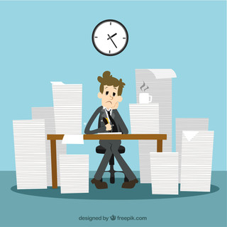 Businessman-with-a-lot-of-work