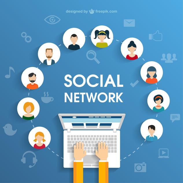 Social-network-concept