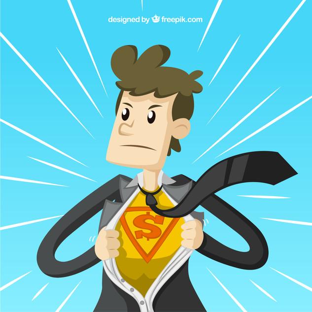 Businessman-superhero