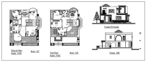 Villa plans elevation