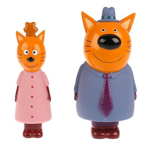 14-019-1 Набор из 2-х игрушек для ванны Три Кота.мама и папа