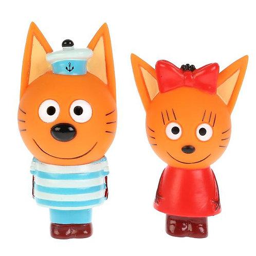 14-019-8 Набор из 2-х игрушек для ванны Три Кота.(Кар.Кор)
