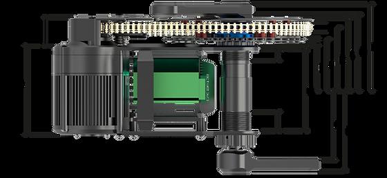 X1 PRO ebike motor bottom bracket option for 100mm
