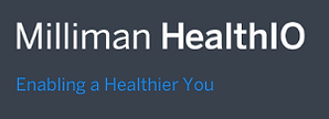 HealthIO Wordmark with Tagline in Blue L
