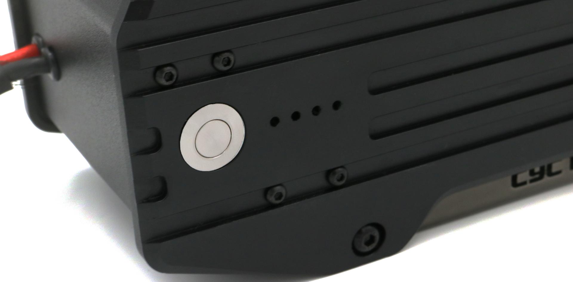 X52 close up of the ebike battery level indicator