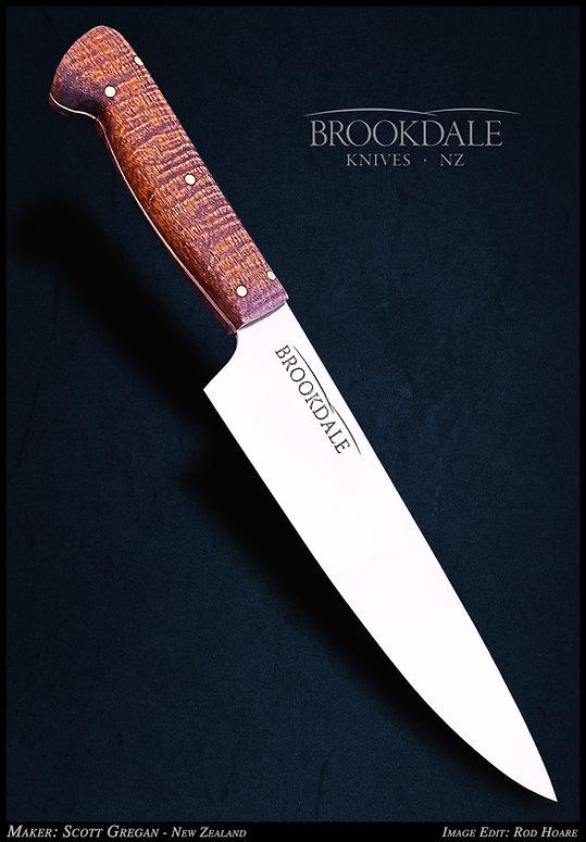 Brookdale Knives Kitchen Knife one angle