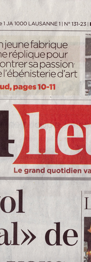 """First page """"24 Heures"""""""