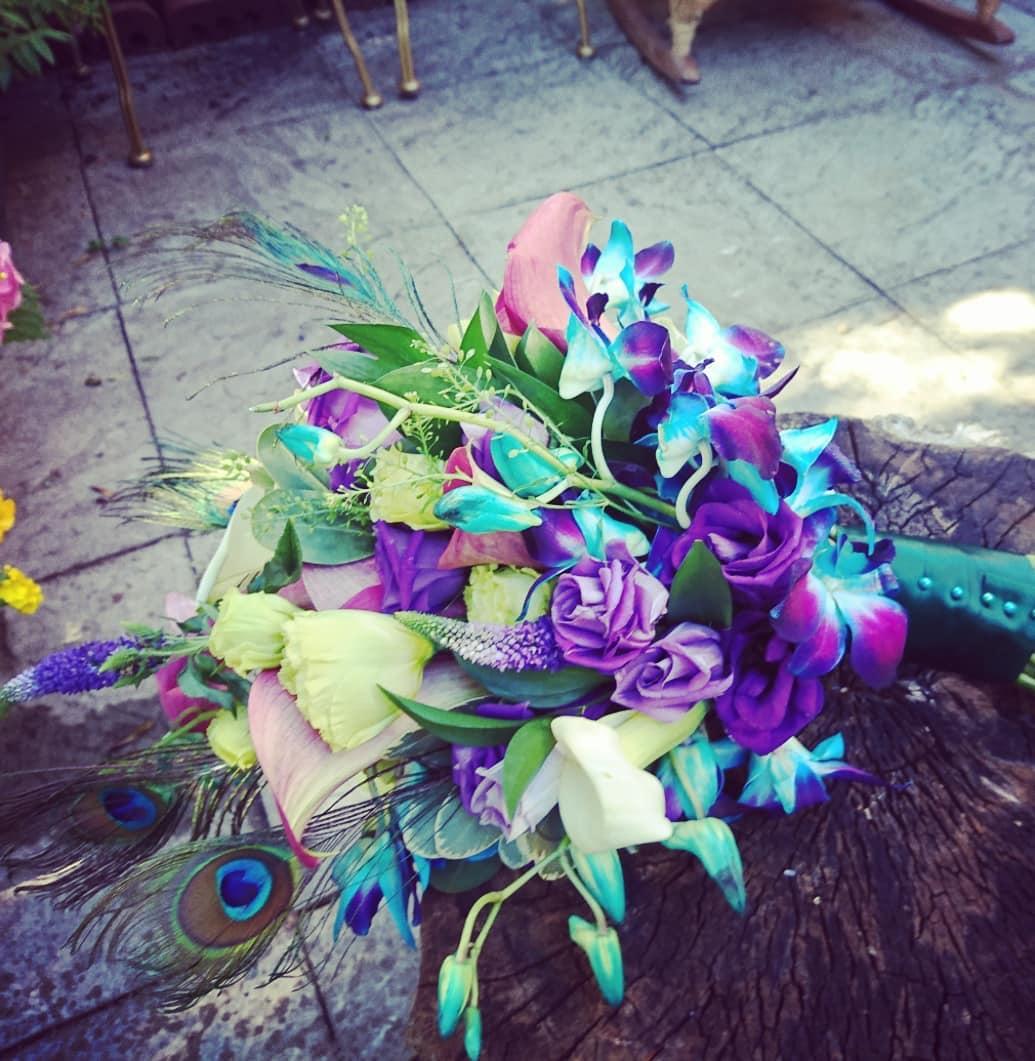 Shower bridal bouquet