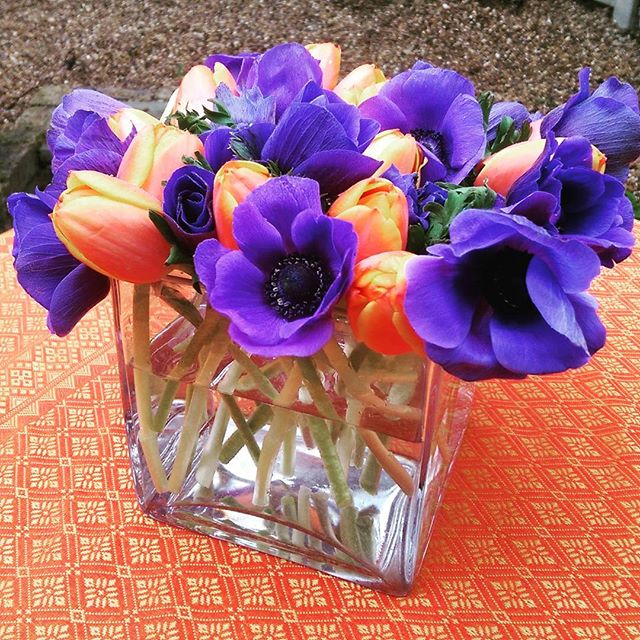 Quirky floral centrepieces