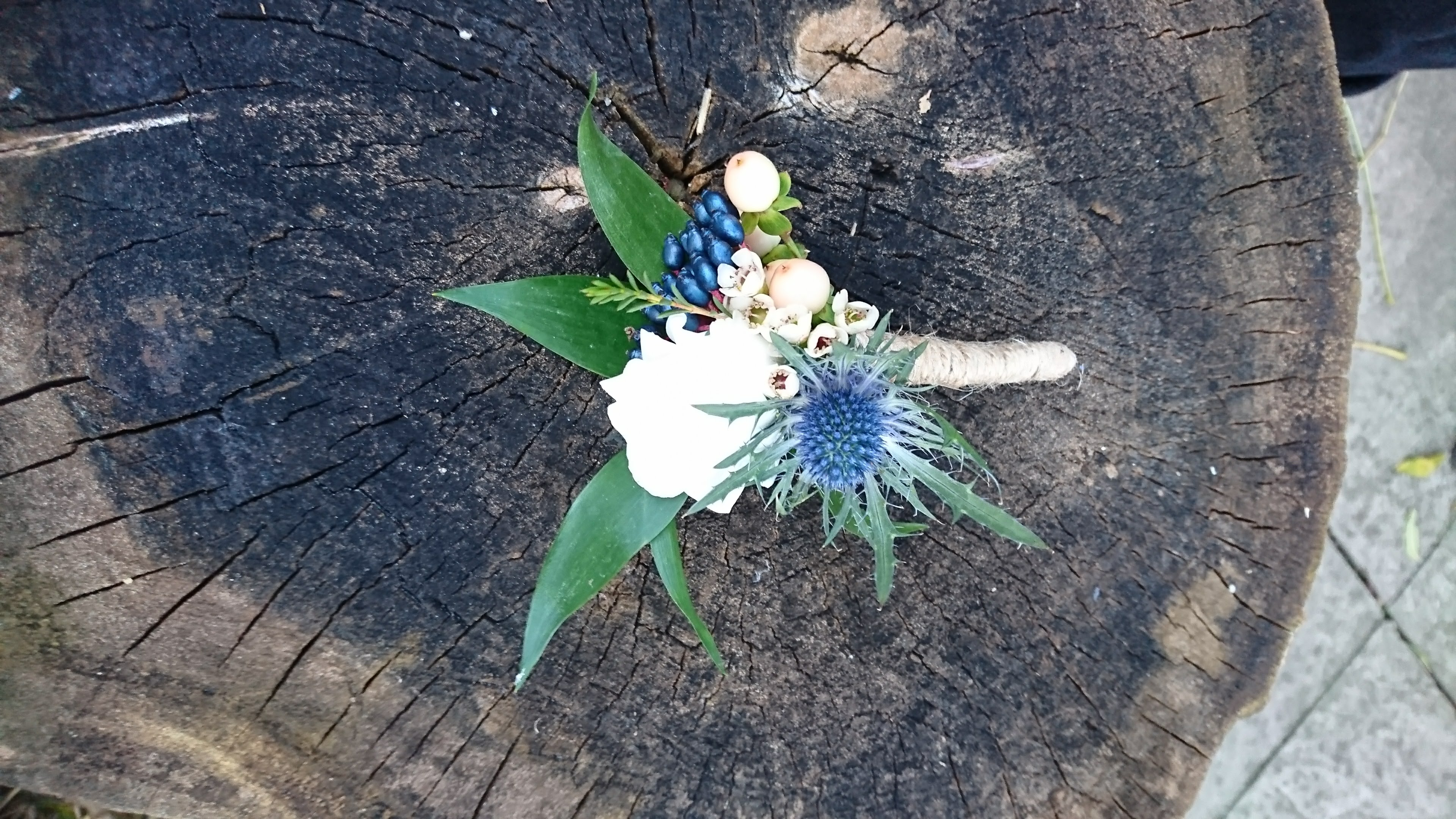 Winter wedding buttonhole