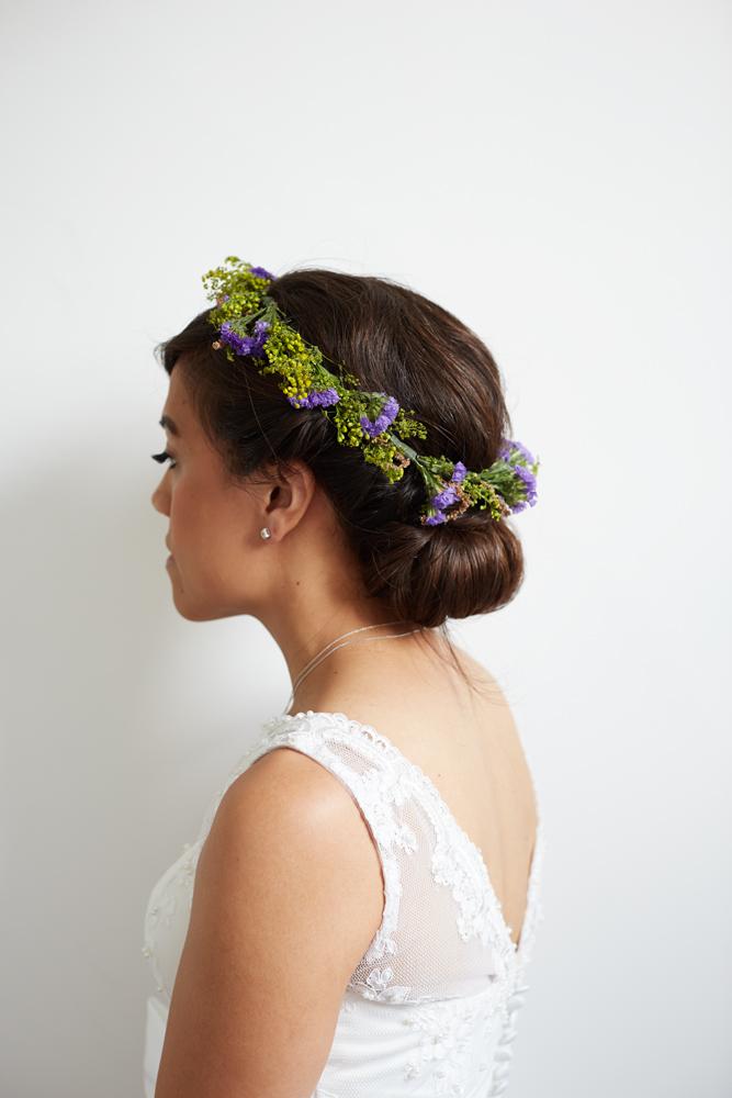 Rustic bridal flower crown