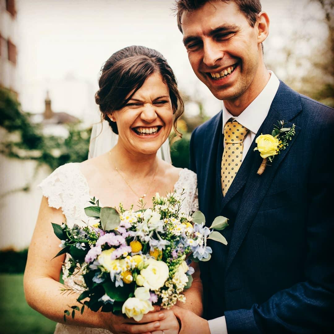 Pastel spring wedding flowers
