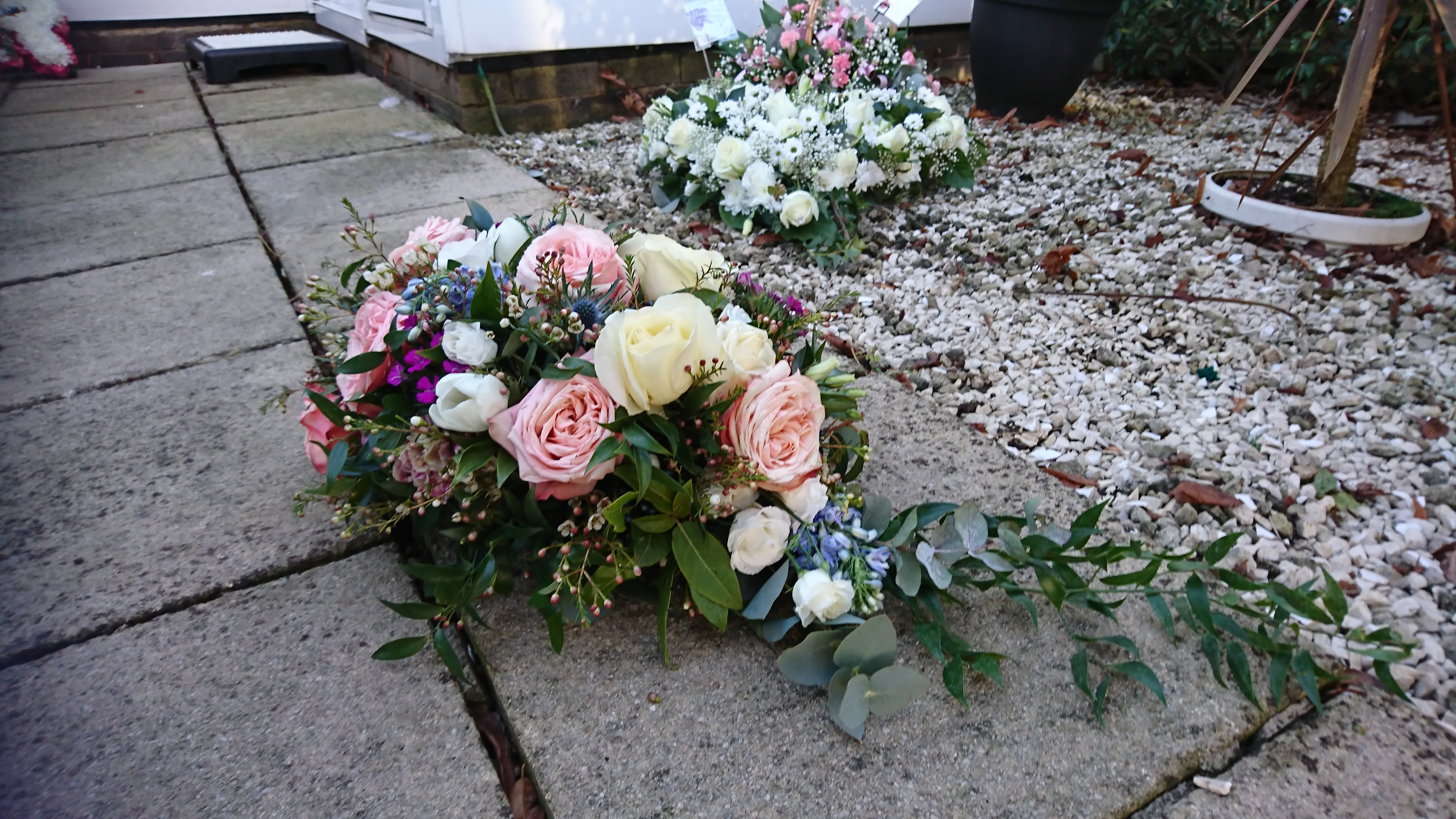 Funeral tribute flowers