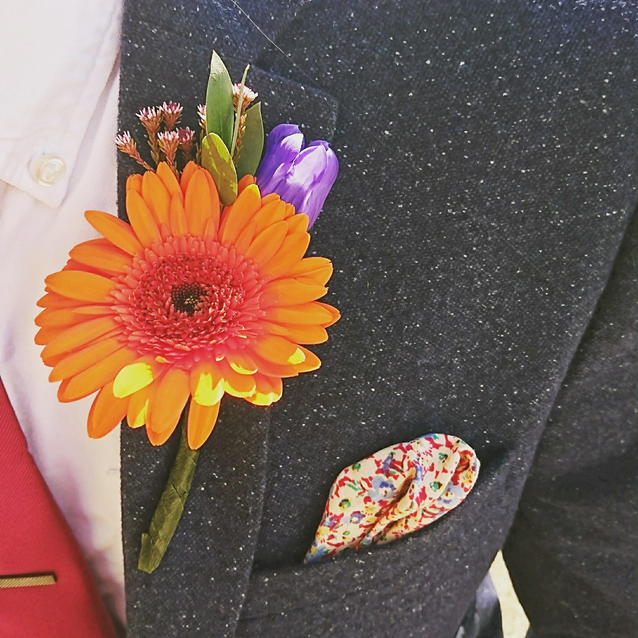 Gerbera buttonhole