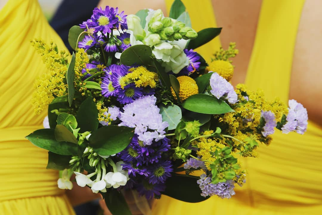 Spring bridesmaids bouquet