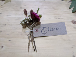 Rustic place setting cards